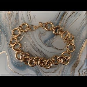 J Crew Chunky Gold Tone Necklace